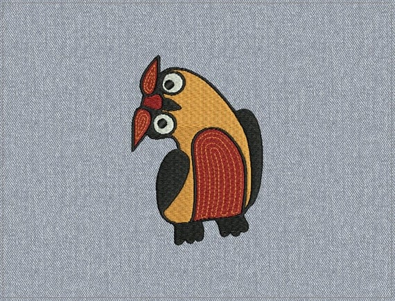 01 - Owl - Machine embroidery design - 2 sizes for instant download