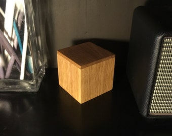 Oak wooden box