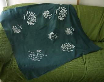 second hand, furoshiki, traditional Japanese wrapping cloth, old fabric, cotton
