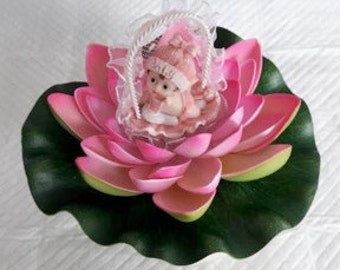 Exclusive Signature Lilly Pad Baby Girl Cake Topper by Lola All Rights Reserved