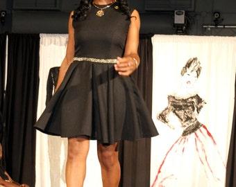 Retro Chic Little Black Dress