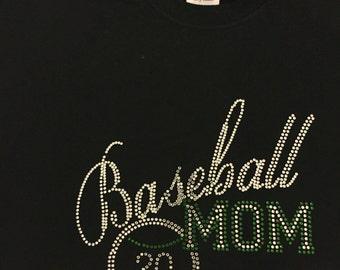 Baseball Mom Rhinestone T Shirt