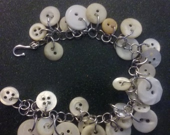 Handmade Vintage Button Bracelet