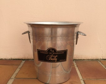 Vintage French Champagne French Ice Bucket Cooler Made in France Bailly