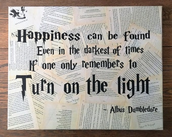 Harry Potter Wall Art - J. K. Rowling - Your choice of quote - Book page Wall hanging - FREE Shipping in Us