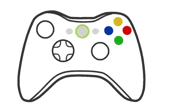 Items similar to xbox controller embroidery pes design