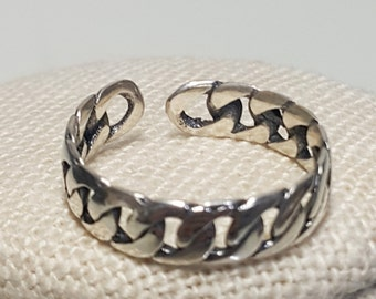 thick chain shaped silver 925 ring