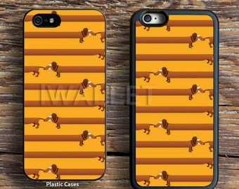 Cute Dachshund Hot Dog Links iPhone 4s 5s SE 5C 6S case,Samsung S3 S4 S5 Mini S6 S7 Note case,iPod,HTC,Nexus,LG,Xperia Wallet leather case