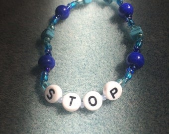 Stop Blue Friendship Bracelet ©