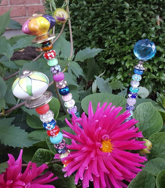 Decorative garden plant stakes bling fairy wand for Decorative garden stakes