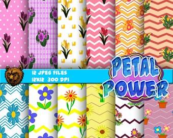 floral digital paper, flowers, digital download, instant download, digital paper, background
