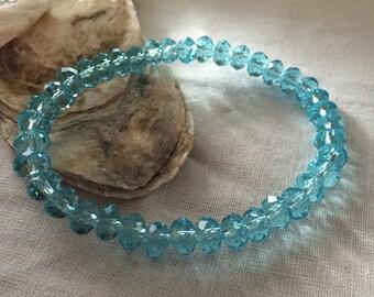 Blue Stretchy Bracelet
