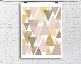 Modern Art Print, Living Room Fine Art Print, Vertical Modern Art
