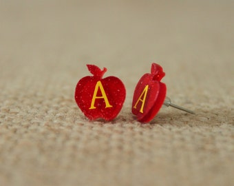Teacher's Apple Earrings