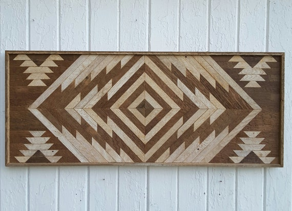 Reclaimed wood wall art twin headboard chevron design Reclaimed wood wall art for sale