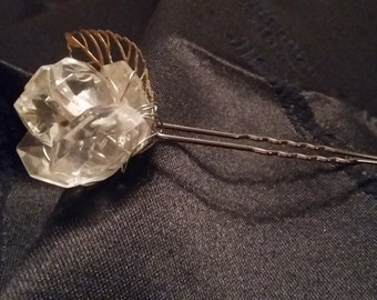 Crystal Rose hair pin