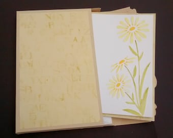 Simply Daisy Notelet Pack of 4
