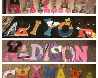 Character Painted Letters