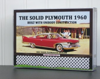 1960 Plymouth Sign/vintage plymouth brochure/plymouth photo/plymouth fury/danbury mint/franklin mint/model car