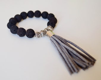 Minimalist Lava Stone Hipster Bracelet