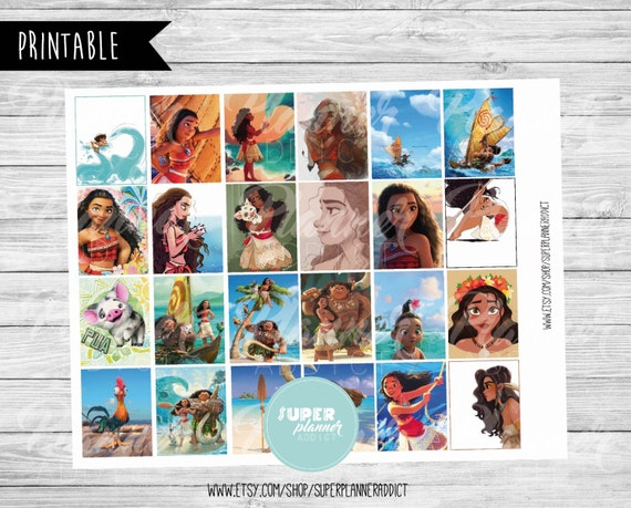 Disney Moana Printable Daily Planner Stickers