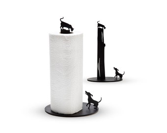 Dog vs. Cat - Metal Paper Towel Holder by Artori Design - Paper towel stand