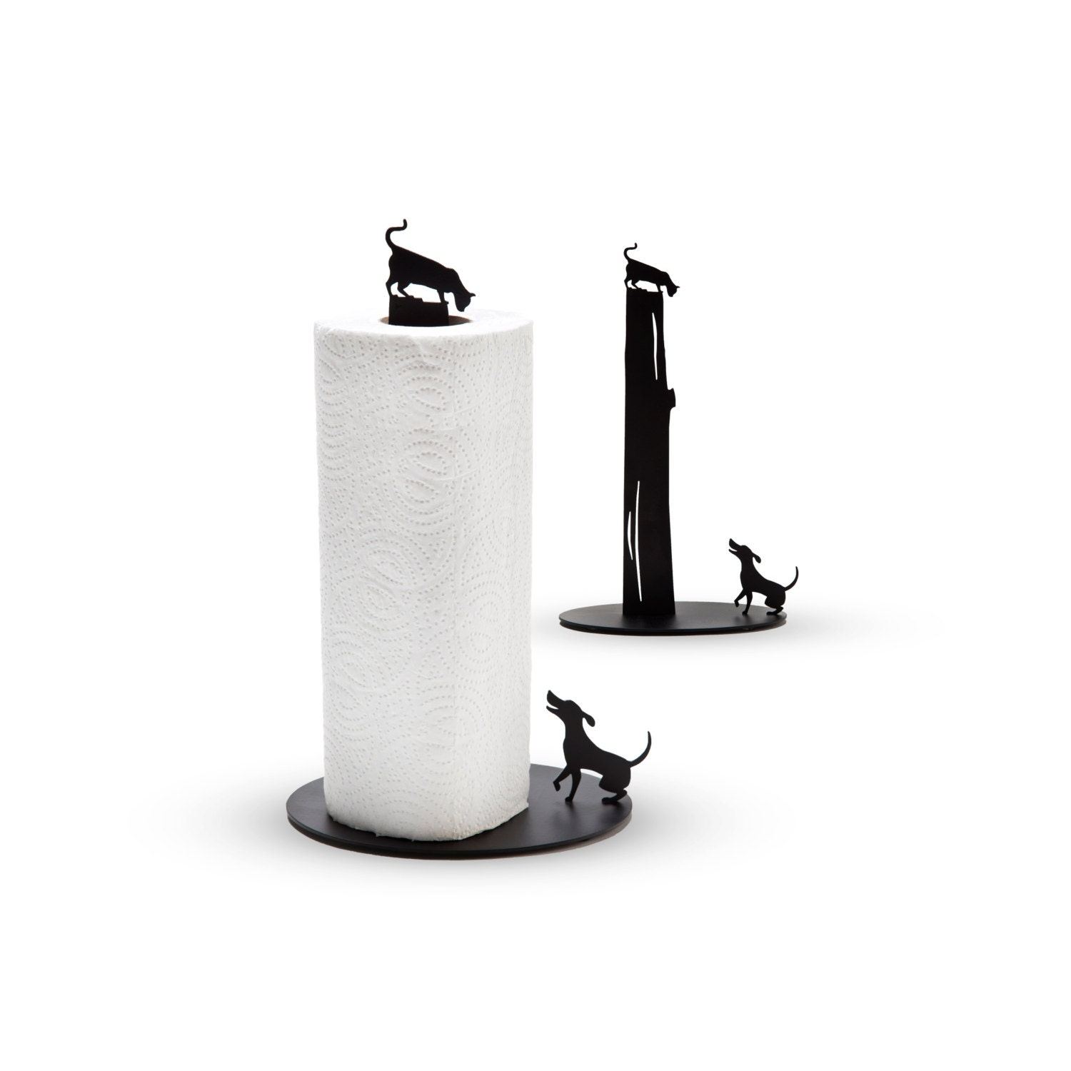 Dog Vs Cat Metal Paper Towel Holder By Artori Design. Carrara Marble Kitchen. Contemporary Console Tables. Wicker Stools. The Wooden Duck. Round Marble Table. Floating Media Console. Mercury Glass Pendant Light. Rustic Beach House