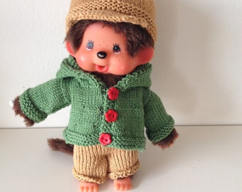 Knitted clothes for Esvini monkey