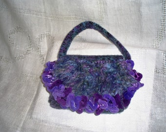 Purple Ruffled Purse
