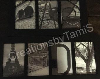 Custom alphabet photography spells 3or4 letter name