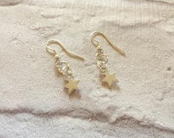 Star Earrings, Little Star Earrings, Silver Star Earrings, Kids Earrings, Party Favors, Silver Stars, Bride Jewellery.