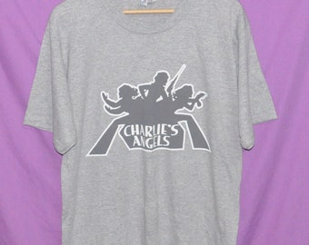 Vintage 90s 1994 Charlie's Angels Movie Film Action Thriller T-Shirt