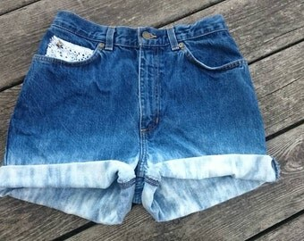Bleached Lace High-waisted Shorts