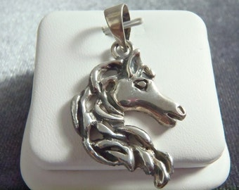 Sterling Silver Horse Head Pendant RP4