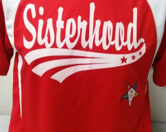 Screened Sisterhood OES Baseball Jersy