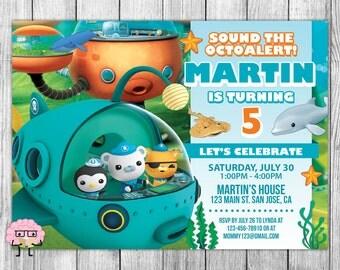 Octonauts Invitation, Octonauts Birthday, Octonauts Party, Octonauts Invites, Octonauts Invite, Printables, FREE 4x6 Thank You Card