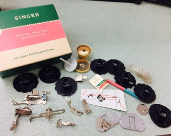SALE: Singer 603 Touch and Sew attachments and Cams