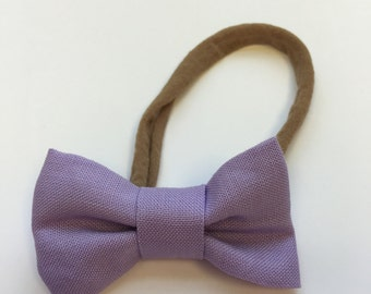Mini Fabric Bow ~ Lavender