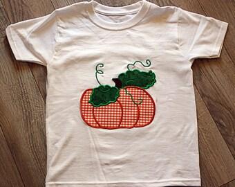 Child's Pumpkin Shirt/Fall Pumpkin Applique/Fall Kid's Shirt