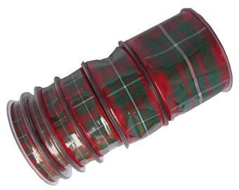 25m Reels MacGregor Tartan Ribbon - 70mm, 40mm, 25mm, 16mm, 10mm and 7mm widths