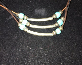 Turquoise & metal necklace