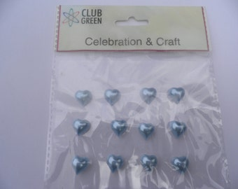 Self Adhesive Blue Hearts for Cardmaking/Scrapbooking