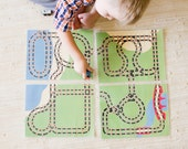 Train Printable Play Mat - Bundle of Sets A and B, Quiet Toys, Train Birthday Party, Travel Play Set, Train Toys, Gifts for Boys
