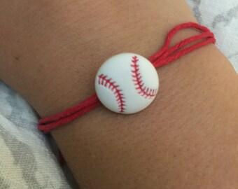 Red baseball bracelet