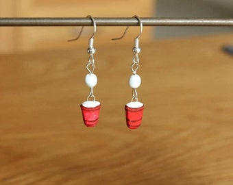 Beer Pong Dangle Earrings