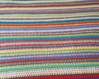 Stripey Crocheted blankets