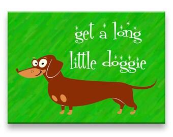 Dachshund Get a Long Little Doggie Fridge Magnet No 1
