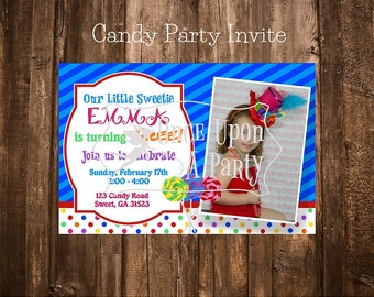 Candy party printables