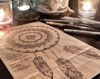 Dreamcatcher/Mandala Paper bags