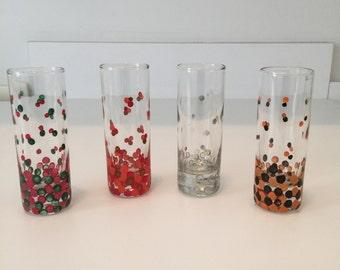 Polka dot shot glasses